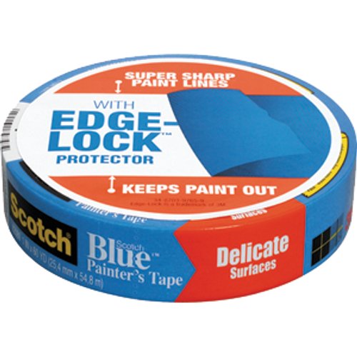 """3M 2080EL-24N 1"""" X 60YD EDGE-LOCK SAFE-RELEASE PAINTERS MASKING TAPE FOR FRESHLY PAINTED SURFACE S/W - 36ct. Case"""