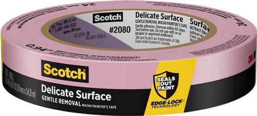 "3M 2080EL-24N 1"" x 60Yd Edge-Lock Safe-Release Painters Masking Tape S/W"