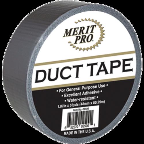 "MERIT PRO 02500 2"" X 55YD UTILITY CLOTH DUCT TAPE 88009"