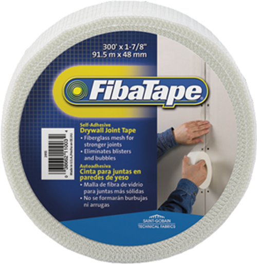 "FIBATAPE FDW6581-U 1-7/8"" X 300' MESH DRYWALL JOINT TAPE SHRINK WRAP SELF ADHESIVE"