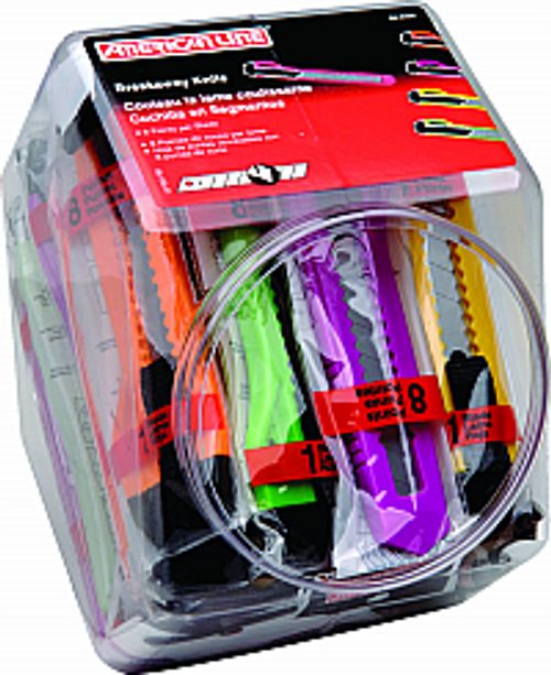 ASR 66-0456 8PT NEON BREAKAWAY KNIFE BUCKET 25PK