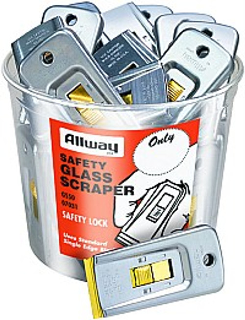 Allway GS50 Bulk Glass Scraper Bucket 50Pk