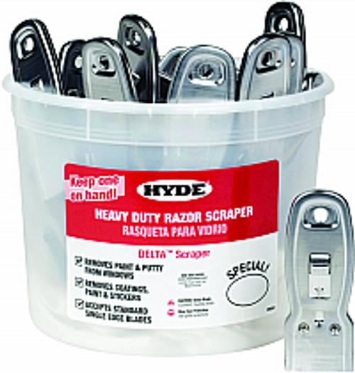 HYDE 49501 BUCKET OF GLASS SCRAPERS BUCKET PK 1/50
