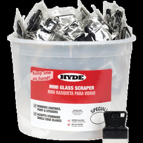HYDE 49515 MINI GLASS SCRAPER UNCARDED BUCKET PK 1/100