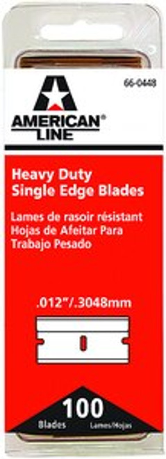 ASR 66-0448 .012 HD SINGLE EDGE BLADE 100PK