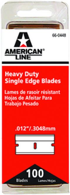 ASR 66-0448 HD .012 SINGLE EDGE RAZOR BLADE 100PK
