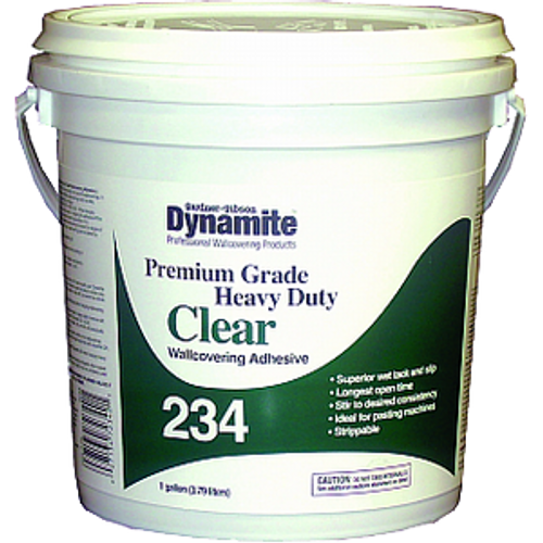 GARDNER GIBSON 7234-3-20 1G CLEAR DYNAMITE 234 HD PREMIUM GRADE WALLCOVER ADHESIVE