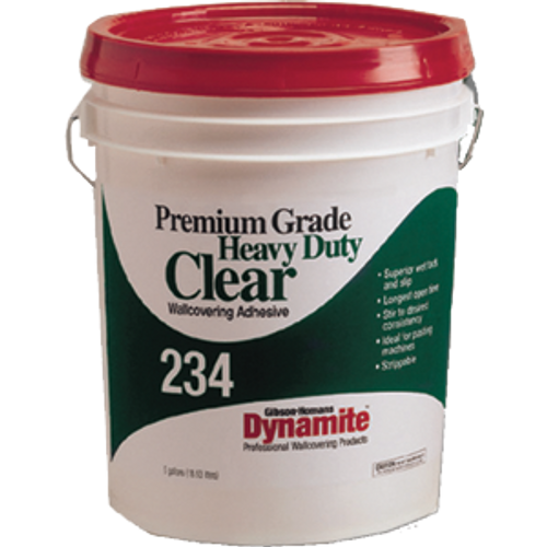 GARDNER GIBSON 7234-3-30 5G CLEAR DYNAMITE 234 HD PREMIUM GRADE WALLCOVERING ADHESIVE