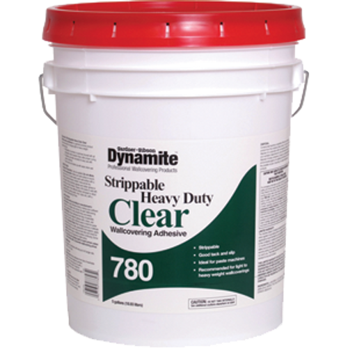 GARDNER GIBSON 7780-3-30 5G CLEAR DYNAMITE 780 HD STRIPPABLE WALLCOVERING ADHESIVE