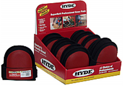 HYDE 09086 KNEE PADS SOFT WITH RED STITCH PVC