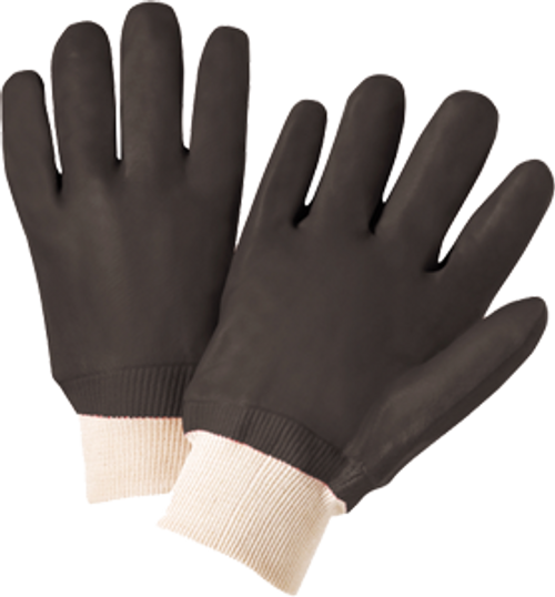 WEST CHESTER 12000/L LARGE BLACK PVC COATED GLOVE - 6ct. Case