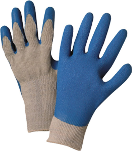 WEST CHESTER 30500/L LARGE BLUE/GRAY SEAMLESS KNIT GLOVE - 3ct. Case