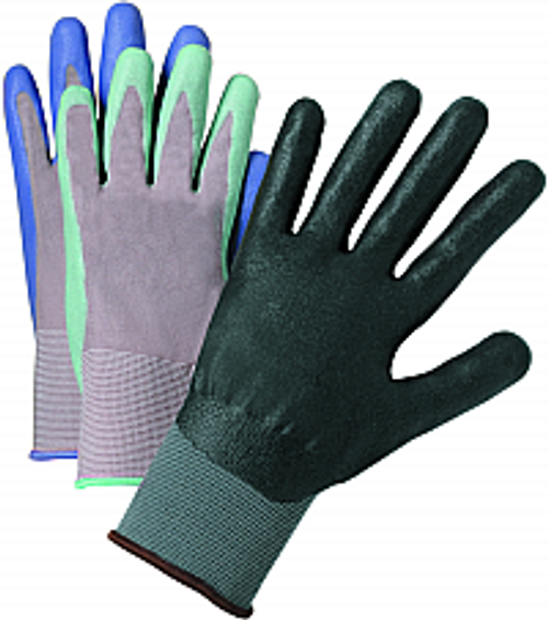WEST CHESTER 37130/L LARGE GRAY NITRILE COATED KNIT GLOVE