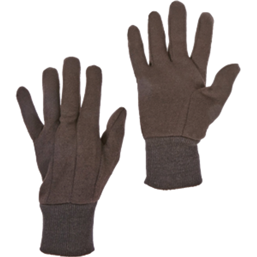 WEST CHESTER 65090/L LARGE BROWN JERSEY KNIT WRIST GLOVE