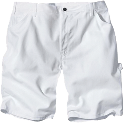 "DICKIES DX400WH 38"" WAIST WHITE PAINTERS SHORTS WITH 10"" INSEAM"