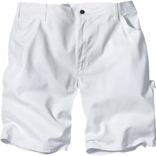 "DICKIES DX400WH 32"" WAIST WHITE PAINTERS SHORTS WITH 10"" INSEAM"