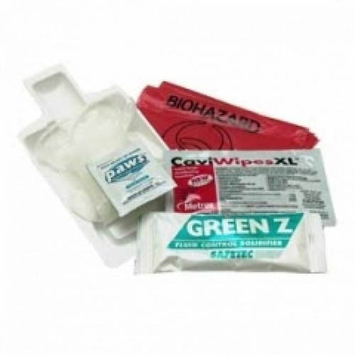 Biohazard Fluid Clean Up Kit With Green Z - 25 units per case