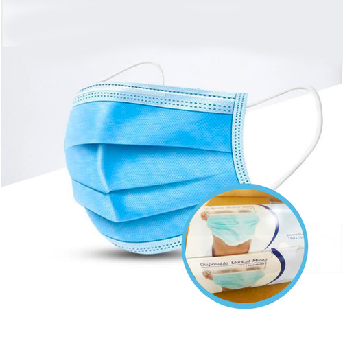 50 pcs Disposable Medical Masks (Non-Sterile)