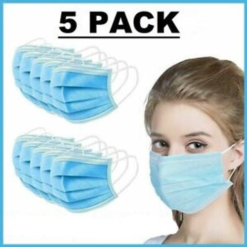 Disposable Medical Masks (Non-Sterile) - 5 pcs