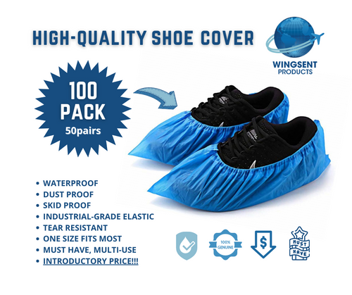 Wingsent Waterproof Shoe Covers 50 pairs