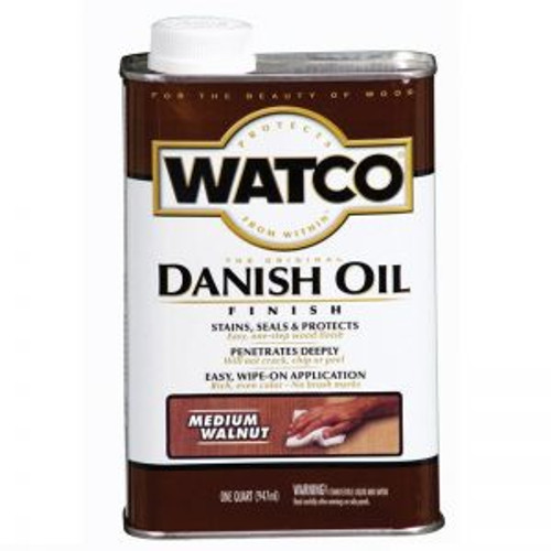 Watco A65941 Qt Medium Walnut Danish Oil - 4ct. Case