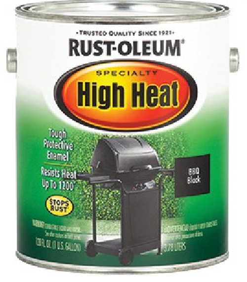 Premium, fast-dry formula offers superior durability and color retention for indoor and outdoor high-heat applications. Rich, satin finish resists up to 1200� F. For use on grills, wood-burning stoves, radiators, engines and other metal items. Provides Rust-Oleum Stops Rust protection against rust and corrosion.