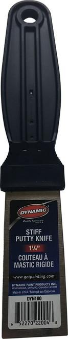 """Dynamic DYN180 DIY 1-1/4"""" Stiff Putty Knife with Carbon Steel Blade"""