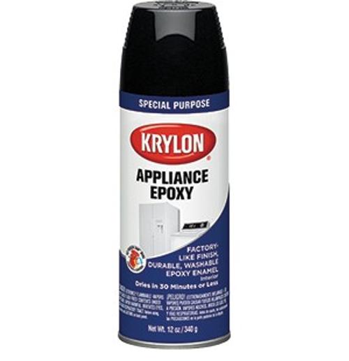 Krylon K03206777 12 oz. Black Epoxy Appliance Spray - 6ct. Case