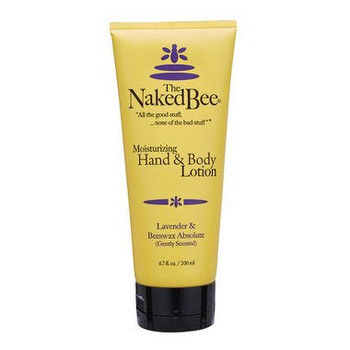 Naked Bee Lavender and Beeswax Absolute Moisturizing Hand and Body Lotion - 6.7 oz tube