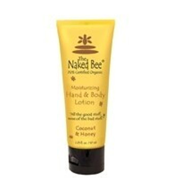 Naked Bee Coconut and Honey Hand and Body Lotion - 2.25 oz tube