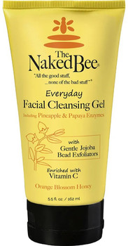 Naked Bee Orange Blossom Honey Everyday Facial Cleansing Gel - 5.5 oz tube