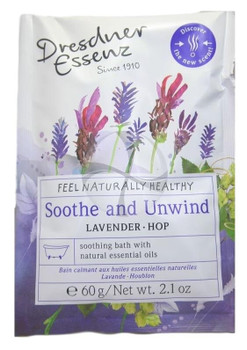 Dresdner Essenz Soothe and Unwind Bath with Lavender and Hop - 2.1 oz packet