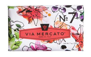 Via Mercato Soap #7 - Peach, Fig Blossom and Rose - 7 oz