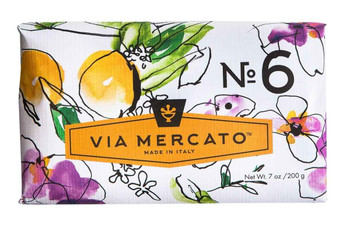 Via Mercato Soap #6 - Fig, Orange Blossom and Cedarwood - 7 oz