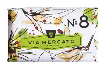 Via Mercato Soap #8 - Clove, Vanilla Flower and Orange - 7 oz