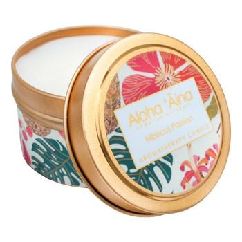 Maui Soap Company Hibiscus Passion Hawaiian Aromatherapy Candle - 4 oz tin