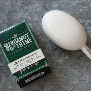 Pre de Provence Soap On A Rope - 200 gm - Bergamot and Thyme