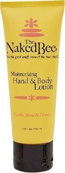 Naked Bee Vanilla, Rose and Honey Hand and Body Lotion - 2.25 oz tube