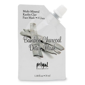 Primal Elements Bamboo Charcoal Detox Face Mask - 1.18 fl oz pouch