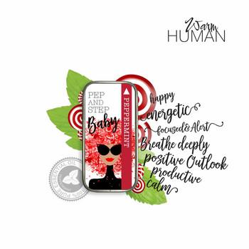 Warm Human Peppermint 100percent Pure Essential Oil Solid Perfume - .28 oz tin