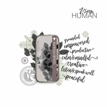Warm Human Sandalwood 100percent Pure Essential Oil Solid Perfume - .28 oz tin