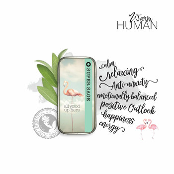 Warm Human Super Sage 100percent Pure Essential Oil Solid Perfume - .28 oz tin