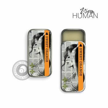 Warm Human Sweet Orange 100percent Pure Essential Oil Solid Perfume - .28 oz tin