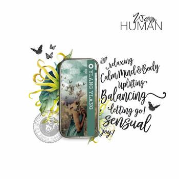 Warm Human Ylang Ylang 100percent Pure Essential Oil Solid Perfume - .28 oz tin