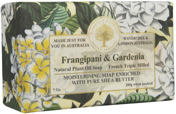 Wavertree and London Frangipani and Gardenia Soap Bar - 200 gm