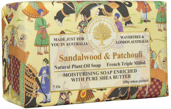 Wavertree and London Sandalwood and Patchouli Soap Bar - 200 gm