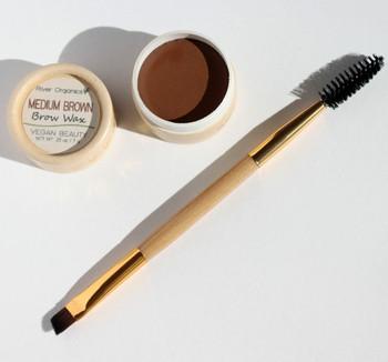 River Organics Eyebrow Wax - Medium Brown Brown or Auburn Eyebrows