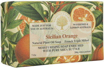 Wavertree and London Sicilian Orange Soap Bar - 200 gm