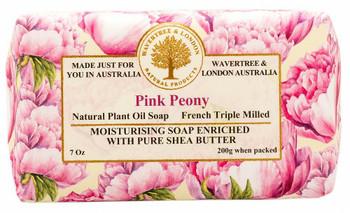 Wavertree and London Pink Peony Soap Bar - 200 gm