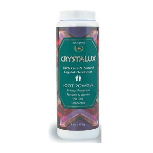 Crystalux Foot Powder Deodorant - 4 oz